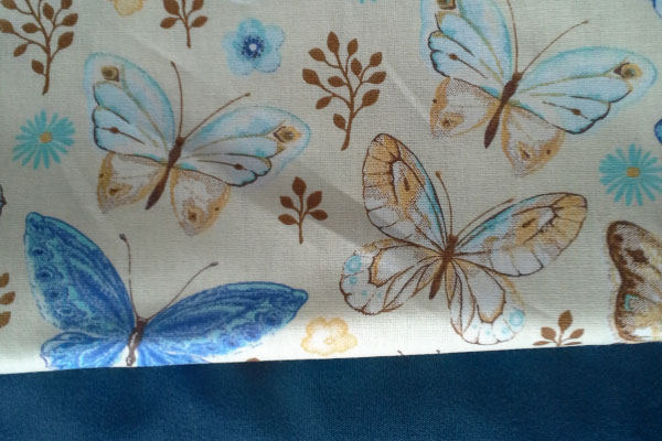 Tecido tricoline borboleta